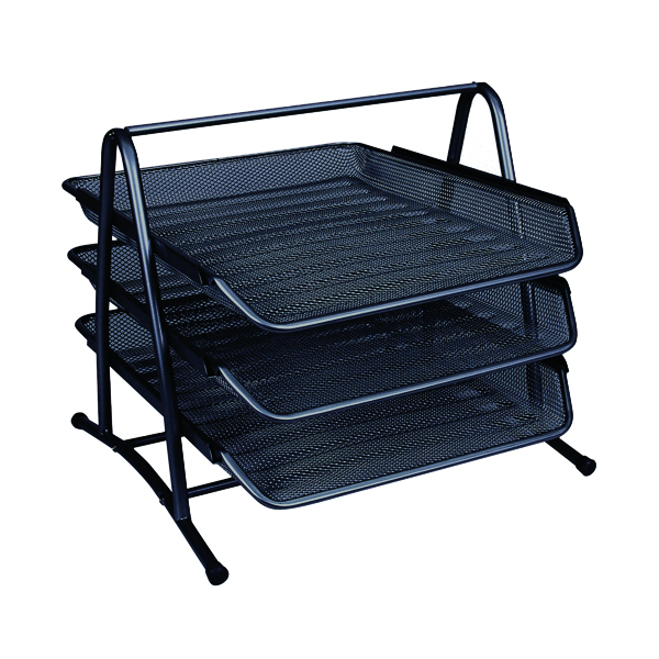 Q-Connect 3 Tier Letter Tray Black KF00823