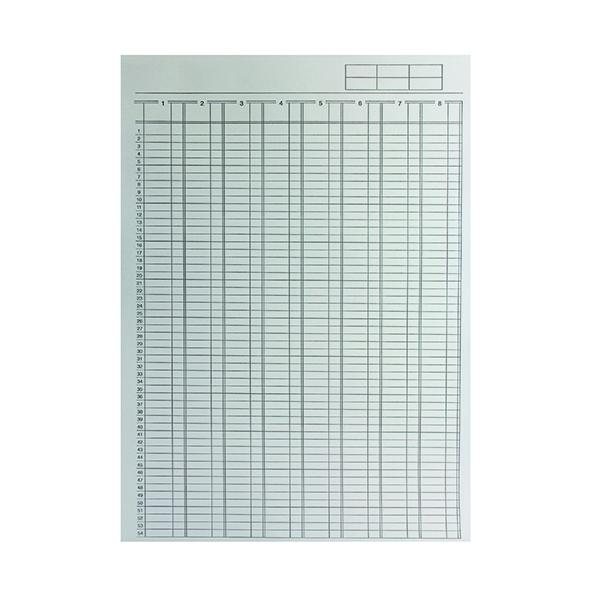 Q-Connect 8-Column Analysis Pad A4 KF01082