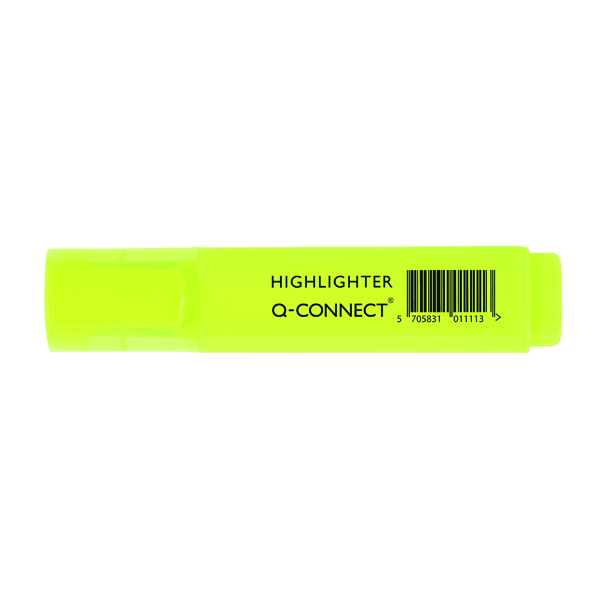 Q-Connect Yellow Highlighter Pen (Pack of 10) KF01111