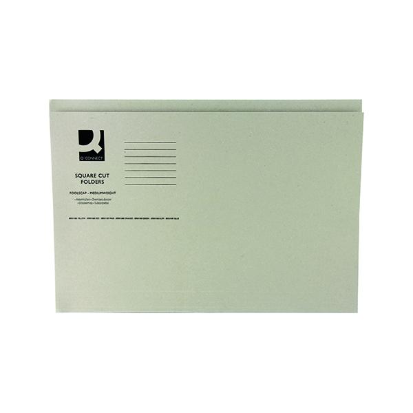 Q-Connect Square Cut Folder Mediumweight 250gsm Foolscap Buff (Pack of 100) KF01190