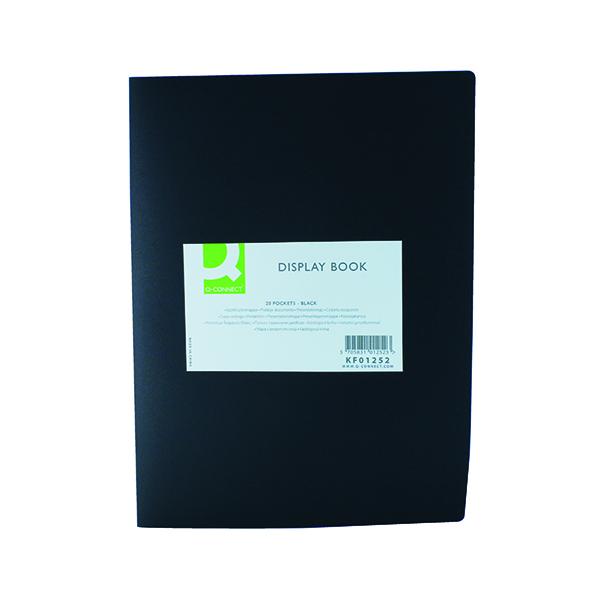 Q-Connect Polypropylene Display Book 20 Pocket Black KF01252