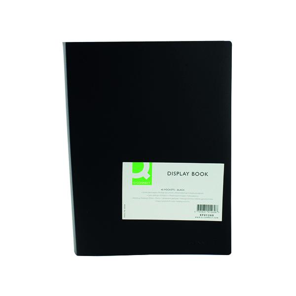 Q-Connect Polypropylene Display Book 40 Pocket Black KF01260