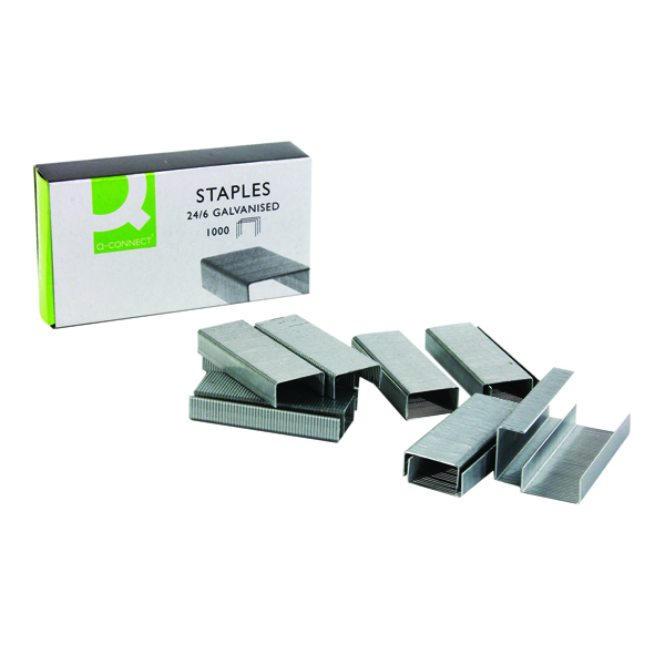 Q-Connect 24/6 Metal Precision Engineered Staples (Pack of 1000) KF01278