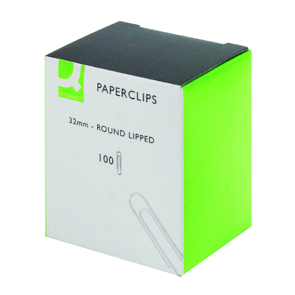 Q-Connect Paperclips Lipped 32mm (Pack of 1000) KF01316Q