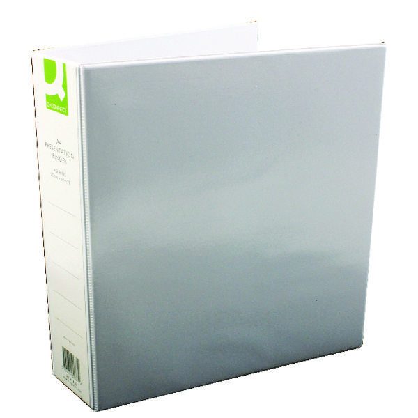 Q-Connect Presentation 50mm 4D Ring Binder A4 White (Pack of 6) KF01333Q