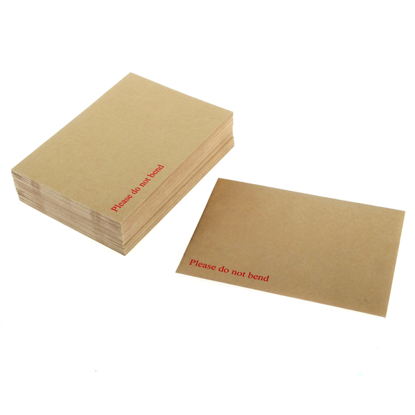 Q-Connect C3 Envelope 458x324mm Board Back Peel and Seal 115gsm Manilla (Pack of 50) KF01409