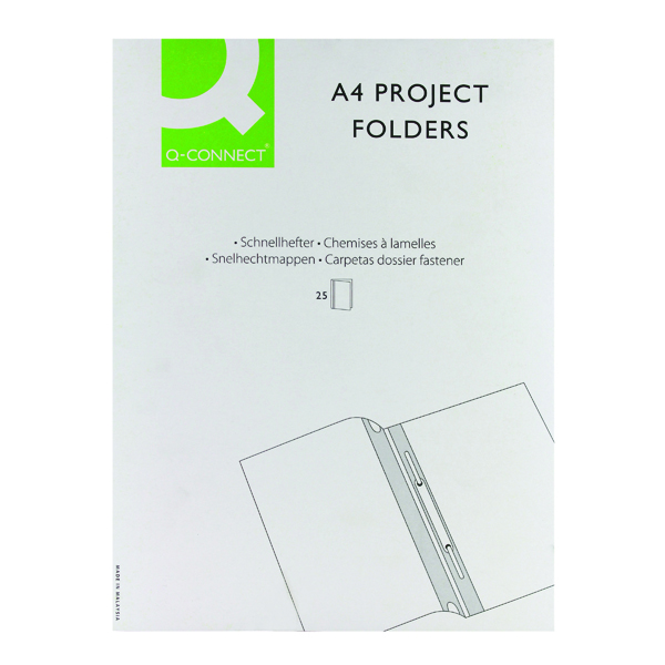 Q-Connect Project Folder A4 Blue (Pack of 25) KF01454