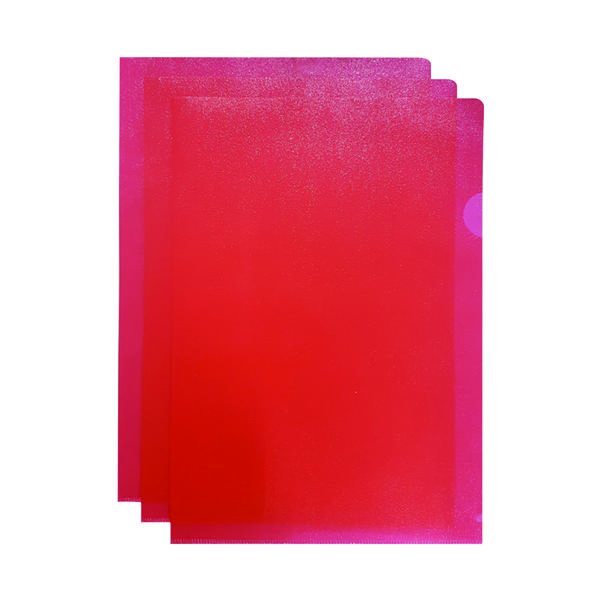 Q-Connect Cut Flush Folder A4 Red (Pack of 100) KF01485