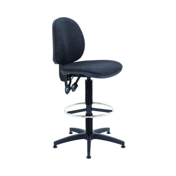 Arista Draughtsman Chair Fixed Footrest Charcoal KF017031