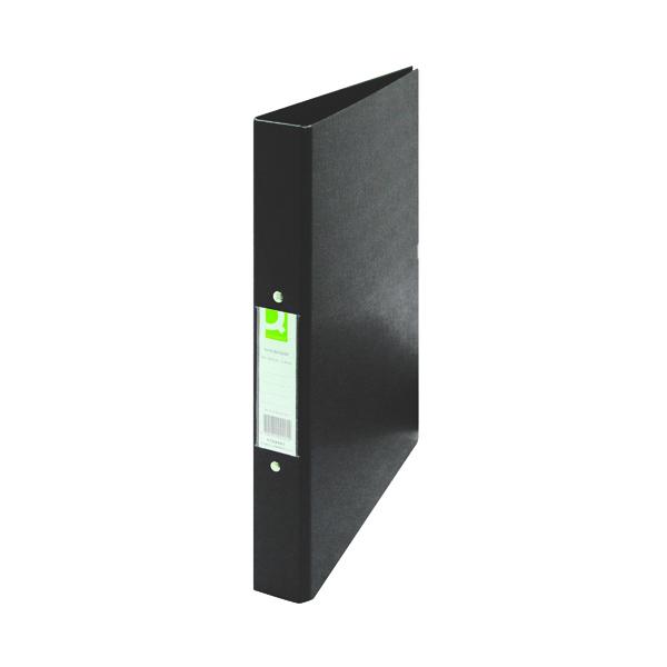 Q-Connect 25mm 2 Ring Binder Polypropylene A4 Black (Pack of 10) KF02005