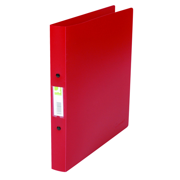 Q-Connect 25mm 2 Ring Binder Polypropylene A4 Red (Pack of 10) KF02008