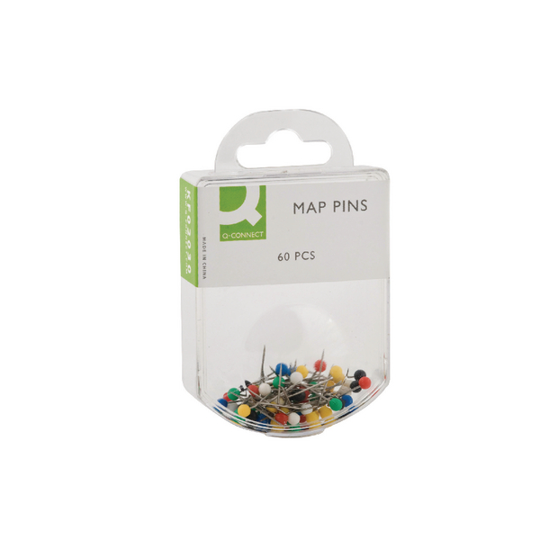 Q-Connect Map Pins Assorted (Pack of 600) KF02030Q
