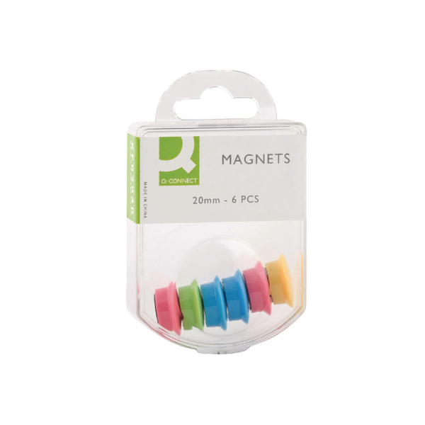 Q-Connect Round Magnet 24mm Assorted (Pack of 60) KF02040Q