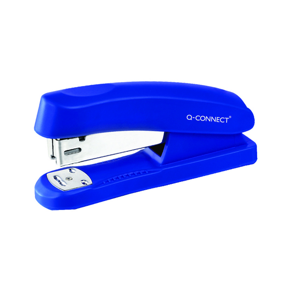 Q-Connect Half Strip Plastic Stapler Blue (Capacity: 20 sheets of 80 gsm paper) KF02151