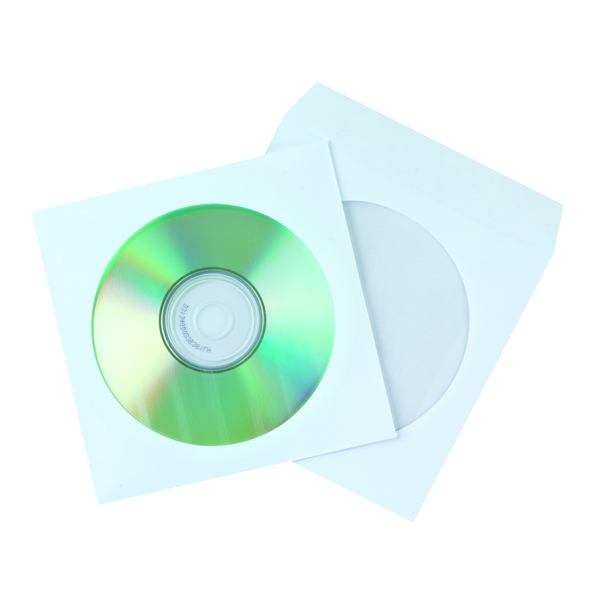 50 x Q-Connect CD Envelope Paper (Saves your disks from scratching) KF02206