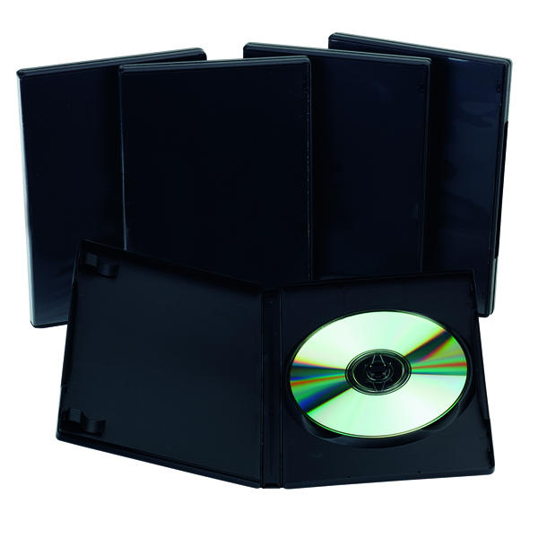 Q-Connect Black DVD Case (Pack of 5)