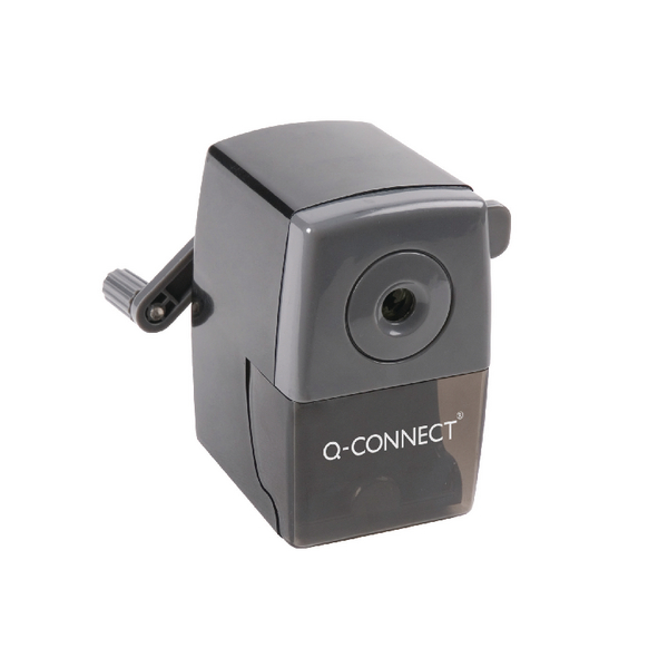 Q-Connect Desktop Pencil Sharpener Black (Autostop feature prevents over sharpening) KF02291