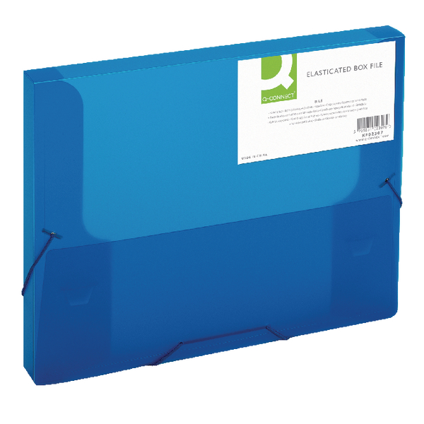 Q-Connect Elasticated Folder 25mm A4 Blue (Suitable for both A4 and Foolscap documents) KF02307