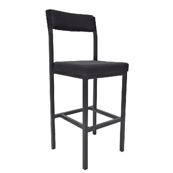 Jemini High Stool with Back Rest Charcoal (Seat height: 700mm) KF03311