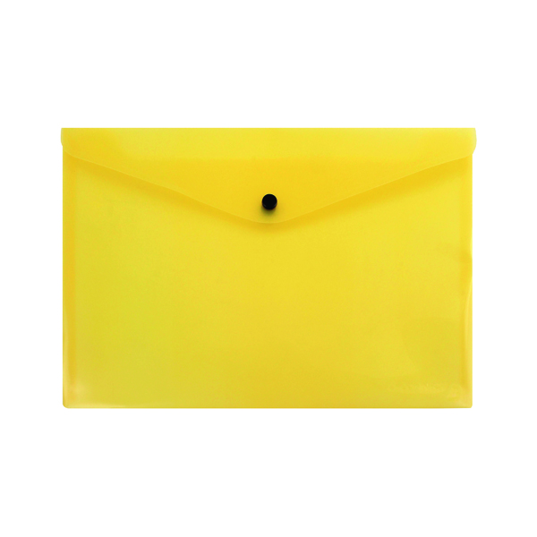 Q-Connect Polypropylene Document Folder A4 Yellow (Pack of 12) KF03595