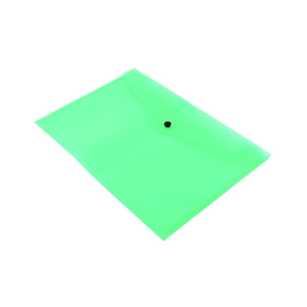 Q-Connect Polypropylene Document Folder A4 Green (Pack of 12) KF03597