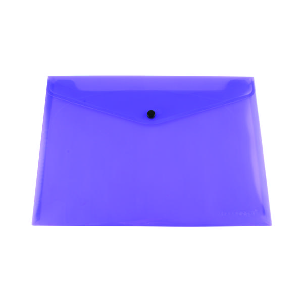 Q-Connect Polypropylene Document Folder A4 Purple (Pack of 12) KF03598