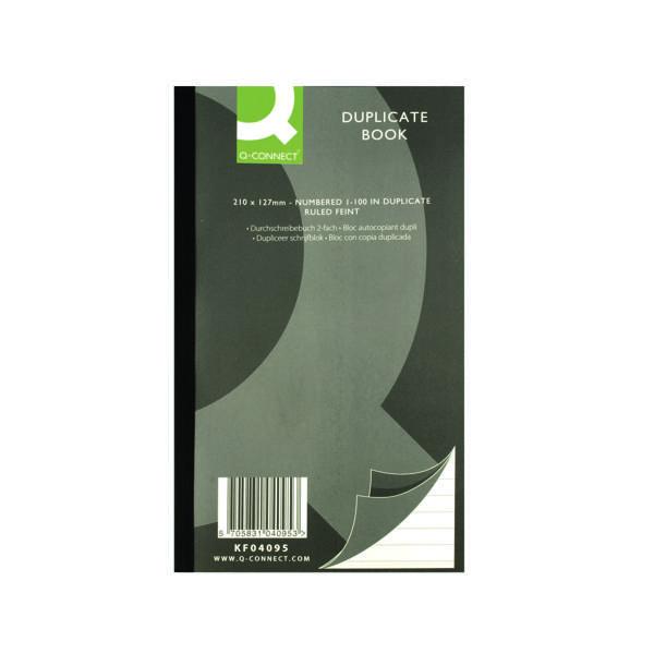 Q-Connect Feint Ruled Duplicate Book 210x127mm KF04095