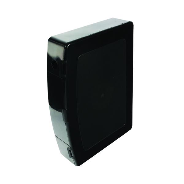 Q-Connect Polypropylene PolyBox File Foolscap Black KF04102