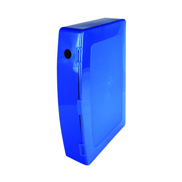 Q-Connect Polypropylene PolyBox File Foolscap Blue KF04103