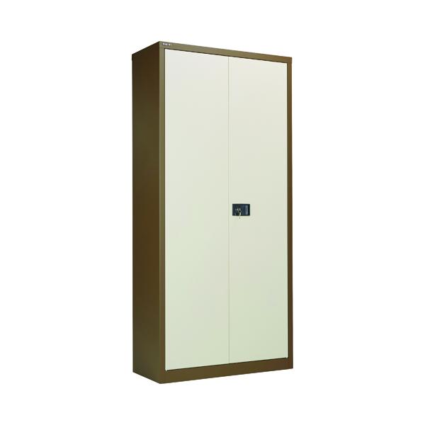 Jemini Coffee/Cream 2 Door Storage Cupboard 1950mm KF08502