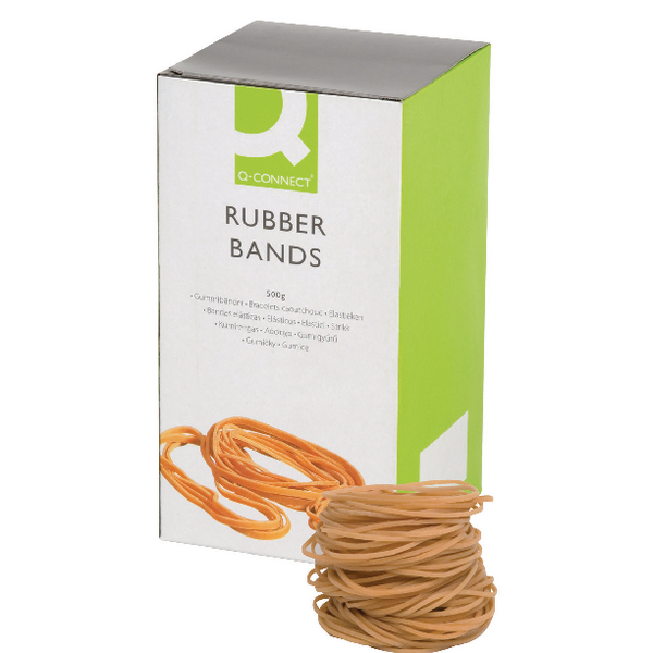 Q-Connect Rubber Bands No.24 152.4 x 1.6mm 500g KF10533