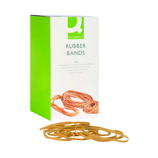 Q-Connect Rubber Bands No.34 101.6 x 3.2mm 500g KF10539