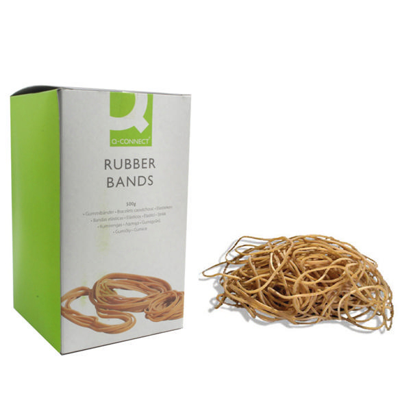 Q-Connect Rubber Bands No.75 101.6 x 9.5mm 500g KF10560