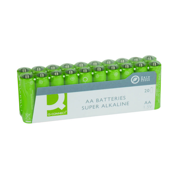 20 x Q-Connect AA Battery Economy (Alkaline batteries, no added mercury) KF10848