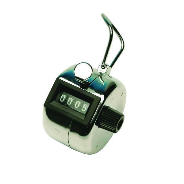 Q-Connect Tally Counter Chrome KF10860