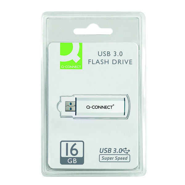 Q-Connect Silver/Black USB 3.0 Slider 16Gb Flash Drive 43202005 KF16369