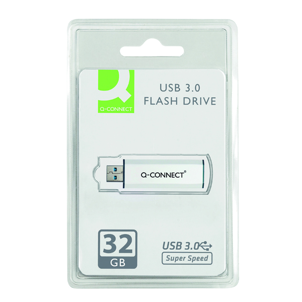 Q-Connect Silver/Black USB 3.0 Slider 32Gb Flash Drive 43202005 KF16370