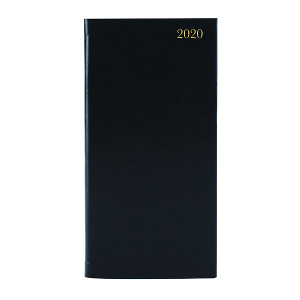 Slim Diary Portrait Week to View 2020 Black KF1BK20