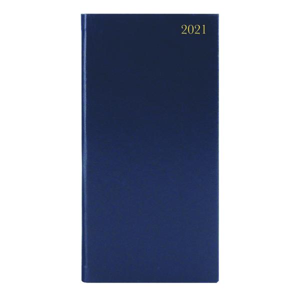 Portrait Diary Week to View Slim Blue 2021 KF1BU21