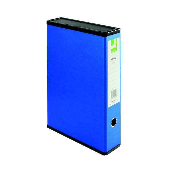 Q-Connect 75mm Box File Foolscap Blue (Pack of 5) 31813KIN0