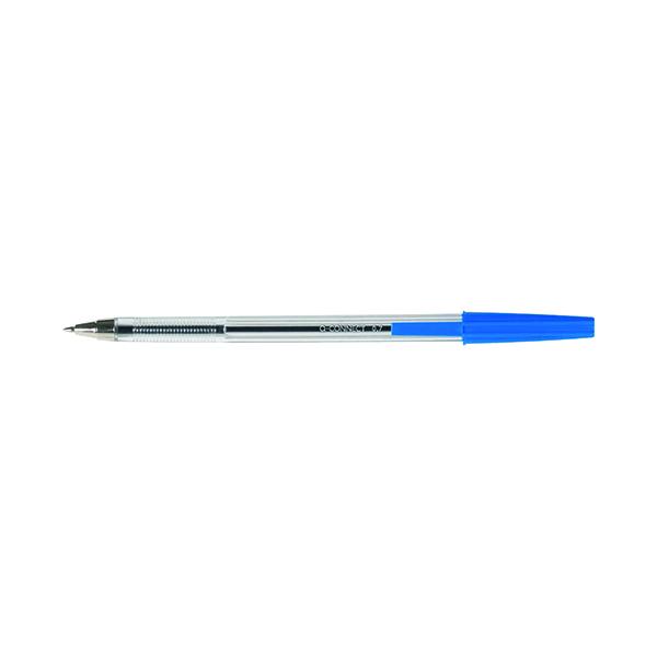 Q-Connect Medium Blue Ballpoint Pen (Pack of 50) KF26039