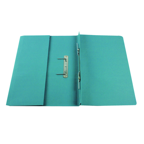 Q-Connect Transfer Pocket 35mm Capacity Foolscap File Blue (Pack of 25) KF26094