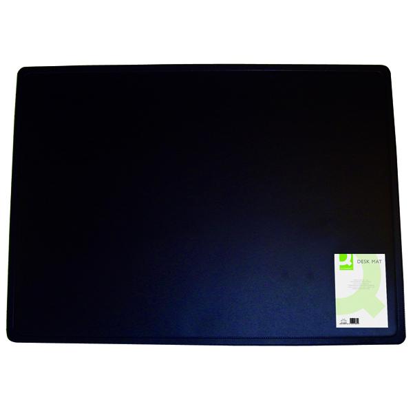 Q-Connect Desk Mat Black (W530 x D400mm, Foam back) KF26802