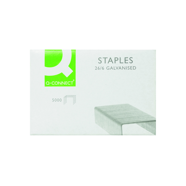 Q-Connect 26/6mm Metal Staples (Pack of 5000) KF27001