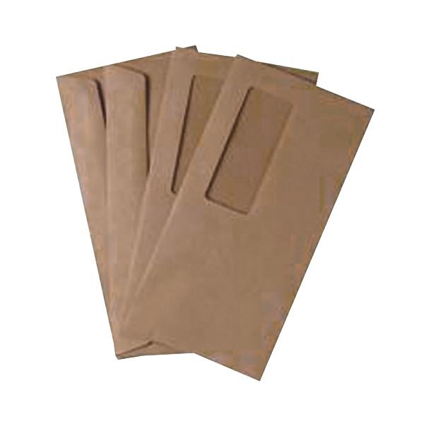 Q-Connect DL Envelopes Wallet High Window Gummed 70gsm Manilla (Pack of 1000) 721204