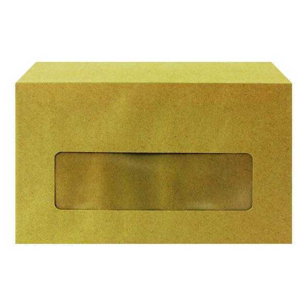Q-Connect Envelope 89x152mm Pocket Centre Window Gummed 70gsm Manilla (Pack of 1000) KF3431