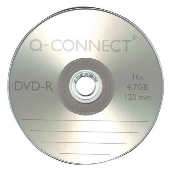 Q-Connect DVD-R Slimline Jewel Case 4.7GB ( 16x speed DVD-R, 120 minute capacity) KF34356