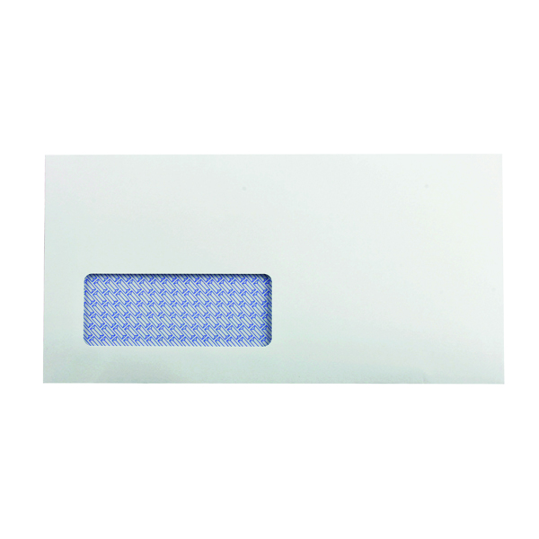 Q-Connect DL Envelopes Window Recycled Self Seal 100gsm White (Pack of 500) KF3505