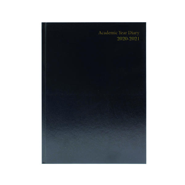 Academic Diary Week to View A4 Black 2020-21 KF3A4ABK21