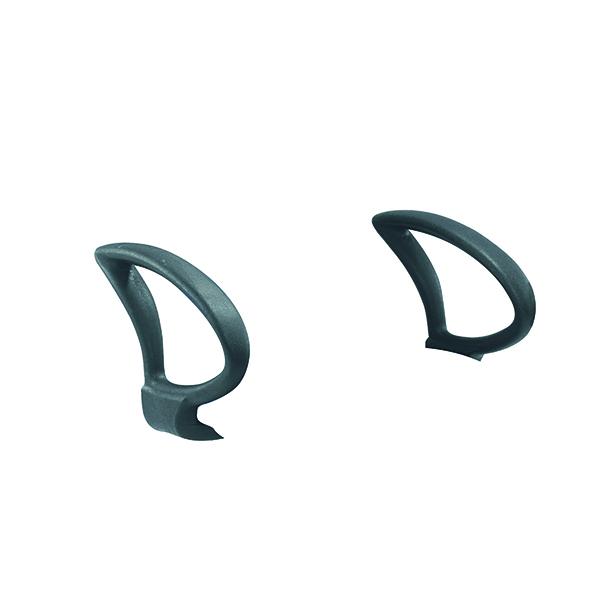 Jemini Fixed Loop Arms Pair Black (Pack of 2) KF50190